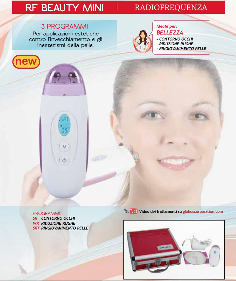 Globus RF Beauty Mini - Radio Frequency,Skin Facial Treatments and Acne